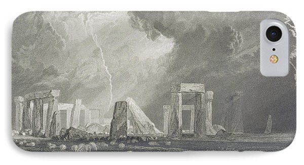 Stone Henge Phone Case by Joseph Mallord William Turner