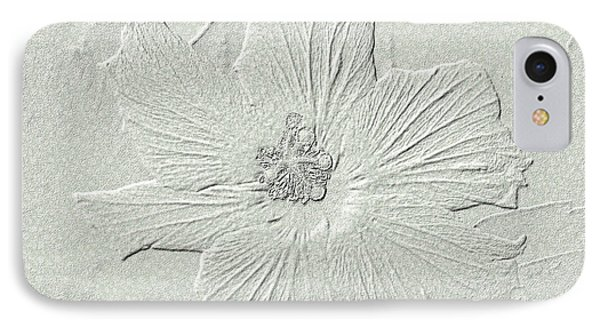 IPhone Case featuring the photograph Stone Hibiscus by Oksana Semenchenko