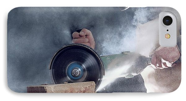 Stone Masonry Dust Exposure IPhone Case by Crown Copyright/health & Safety Laboratory Science Photo Library