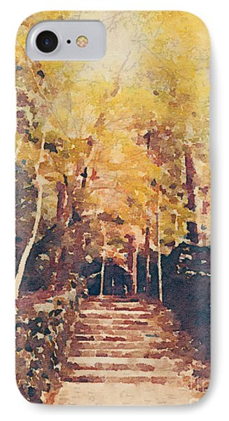 Stone Path Through A Forest In Autumn IPhone Case by Beverly Claire Kaiya