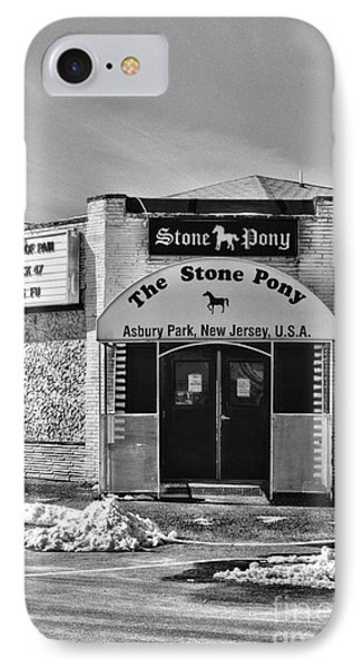 Stone Pony In Black And White IPhone Case by Paul Ward