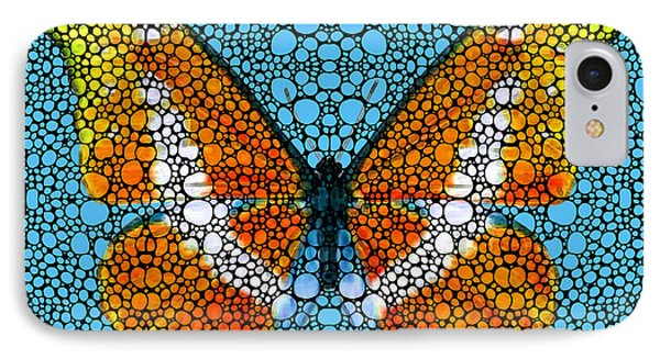 Stone Rock'd Butterfly By Sharon Cummings Phone Case by Sharon Cummings