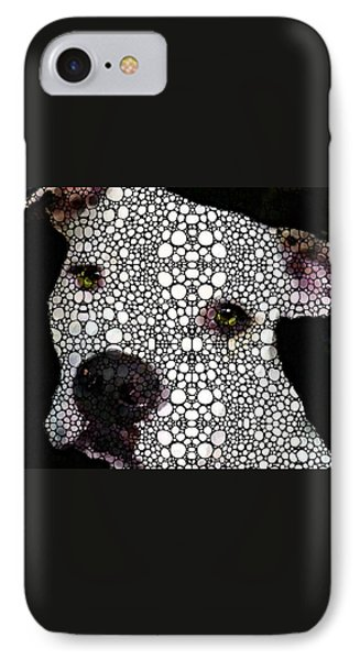 Stone Rock'd Dog By Sharon Cummings Phone Case by Sharon Cummings