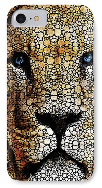 Stone Rock'd Lion 2 - Sharon Cummings IPhone Case by Sharon Cummings