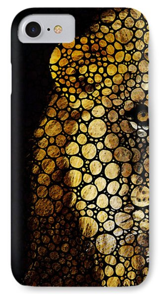 Stone Rock'd Lion - Sharon Cummings IPhone Case by Sharon Cummings
