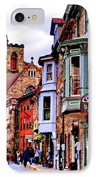 Stone Row - Jim Thorpe Pa IPhone Case by Jacqueline M Lewis