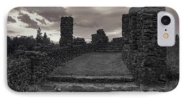 Stone Ruins At Old Liberty Park - Spokane Washington Phone Case by Daniel Hagerman