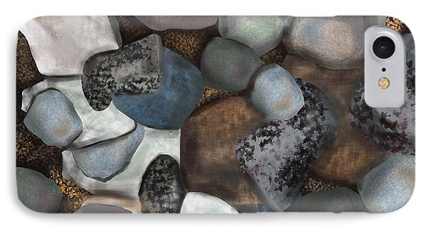 Stone Thoughts Phone Case by Christine Fournier