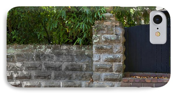 Stone Wall And Gate Phone Case by Rich Franco