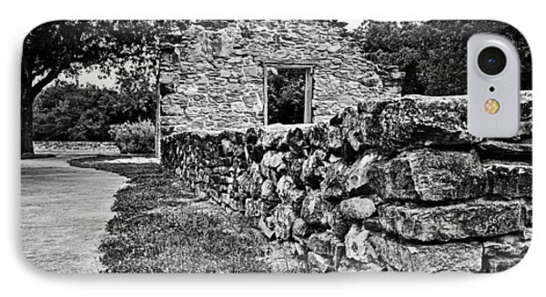 IPhone Case featuring the photograph Stone Wall At Mission Espada by Andy Crawford