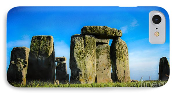 Stonehenge From The Earth IPhone Case by David Warrington