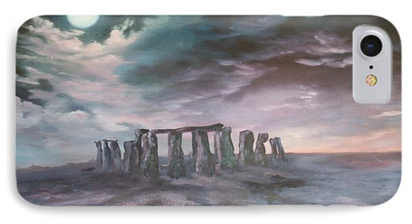 Stonehenge In Wiltshire IPhone Case by Jean Walker