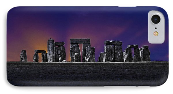 IPhone Case featuring the photograph Stonehenge Looking Moody by Terri Waters