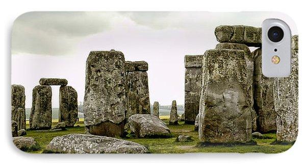 Stonehenge Panorama Phone Case by Jon Berghoff