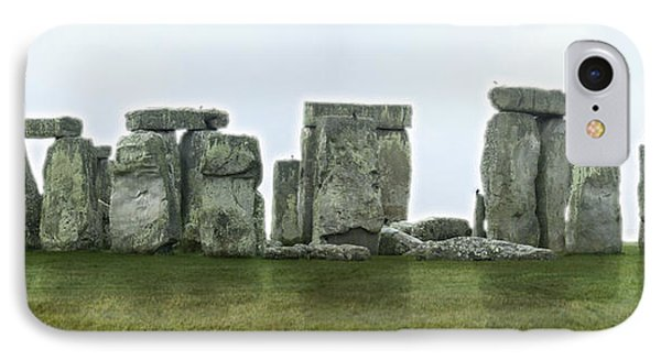 Stonehenge Panoramic - England IPhone Case by Mike McGlothlen