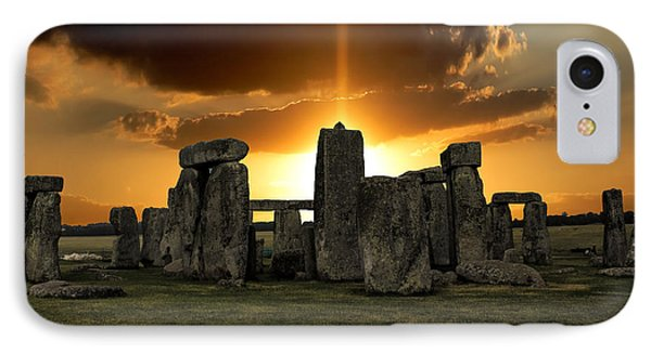 Stonehenge Wiltshire Uk IPhone Case by Martin Newman