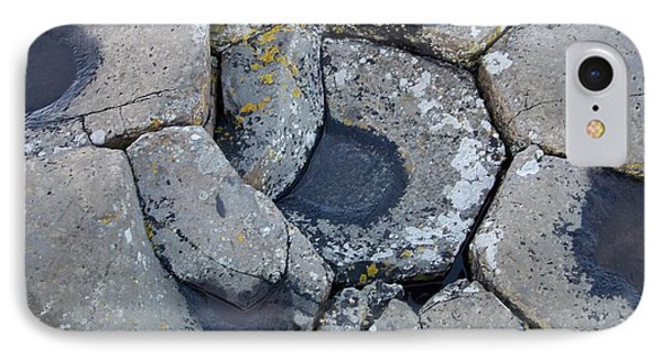 IPhone Case featuring the photograph Stones On Giant's Causeway by Marilyn Zalatan