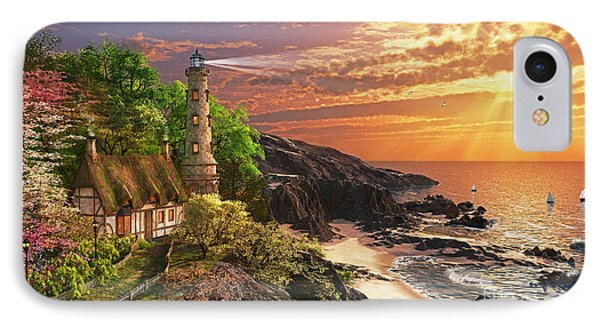 Stoney Cove Lighthouse IPhone Case by Dominic Davison