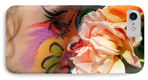 IPhone Case featuring the photograph Stop And Smell The Roses by Debra Kaye McKrill
