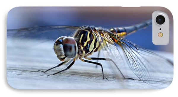 Stop By Tiger Dragon Fly Phone Case by Peggy Franz