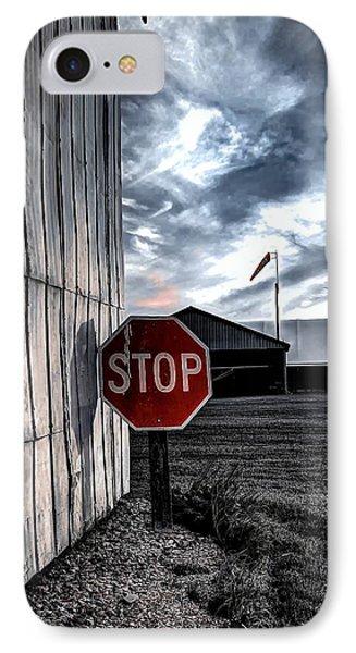 Stop IPhone Case by Michaela Preston