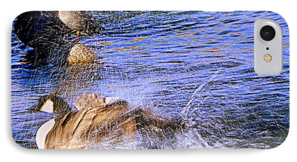 Stop Splashing IPhone Case by Bobbee Rickard