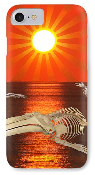 IPhone Case featuring the mixed media Stop The Slaughter by Eric Kempson