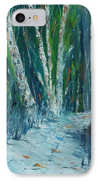 Stopping By Woods On A Snowy Evening IPhone Case by Conor Murphy