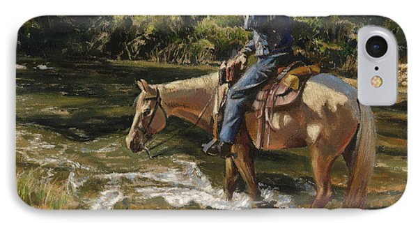 Man On Horse Cooling Feet IPhone Case