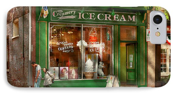 Store Front - Alexandria Va - The Creamery Phone Case by Mike Savad
