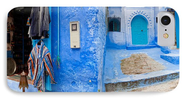 Store In A Street, Chefchaouen, Morocco IPhone Case by Panoramic Images