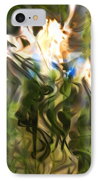 IPhone Case featuring the digital art Stork In The Music Garden by Richard Thomas