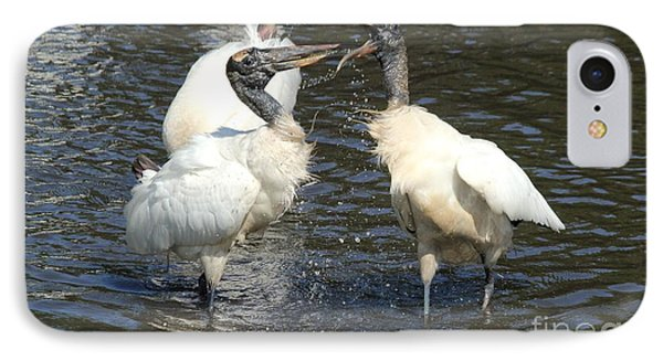 Stork Squabble Phone Case by Theresa Willingham