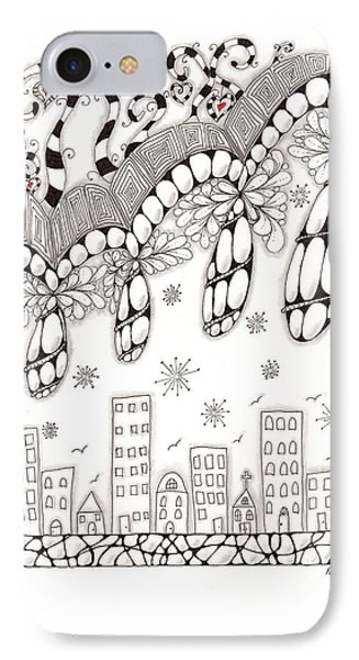 Storm Above The City Phone Case by Paula Dickerhoff