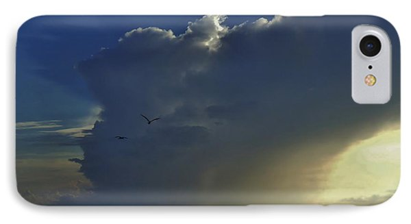 IPhone Case featuring the photograph Storm Across Delaware Bay by Ed Sweeney