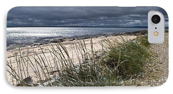 IPhone Case featuring the photograph Storm Arising Dornoch Beach Scotland by Sally Ross