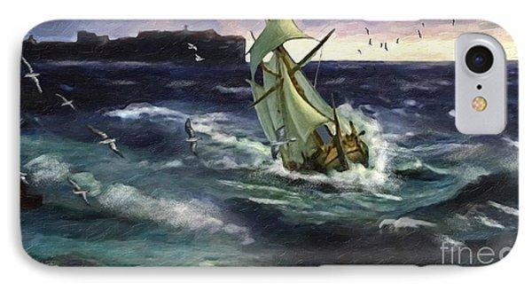 Storm At Dubrovnik IPhone Case