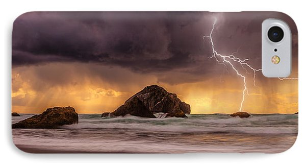 Storm At Face Rock IPhone Case by Darren  White