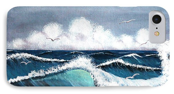Storm At Sea IPhone Case by Barbara Griffin