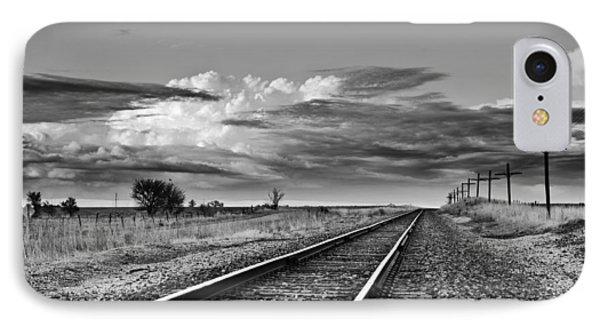 Storm Cloud Above Rail Road Tracks IPhone Case