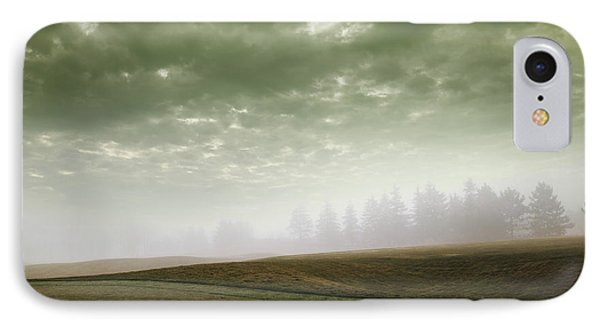 Storm Clouds And Foggy Hills Phone Case by Vast Photography