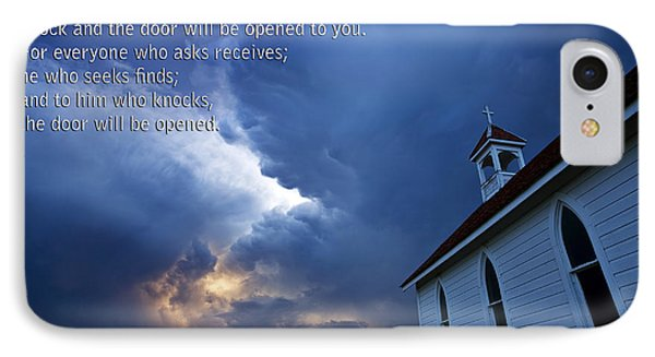 Storm Clouds And Scripture Matthew Country Church Phone Case by Mark Duffy