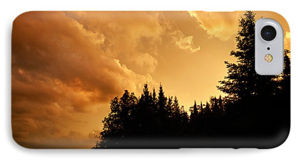 Storm Clouds At Sunset Phone Case by Larry Ricker