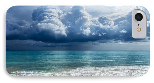 IPhone Case featuring the photograph Storm Clouds At Waimanalo by Leigh Anne Meeks