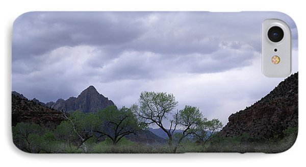 Storm Clouds Over A Mountain Range IPhone Case