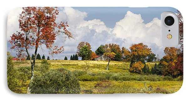 IPhone Case featuring the photograph Storm Clouds Over Country Landscape by Christina Rollo