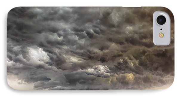 Storm Coulds Over Nyc Phone Case by Jerry Fornarotto