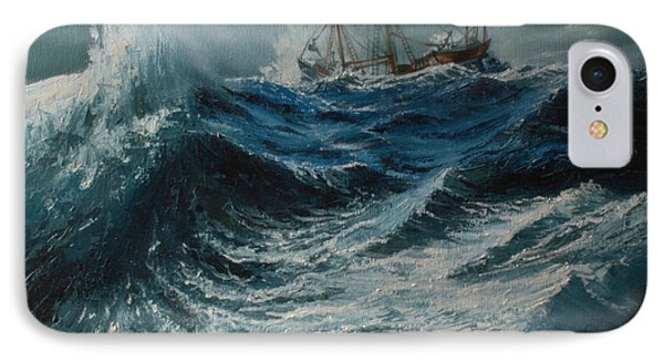 Storm In The Sea Phone Case by Shobita Sreekumar