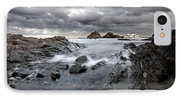 Storm Is Coming To Island Of Menorca From North Coast And Mediterranean Seems Ready To Show Power IPhone Case by Pedro Cardona