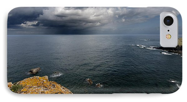 A Mediterranean Sea View From Sa Mesquida In Minorca Island - Storm Is Coming To Island Shore IPhone Case